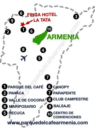bbicacion Hotel Campestre La Tata – Quindio